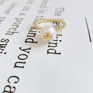 Tory Burch Simple Pearl Ring